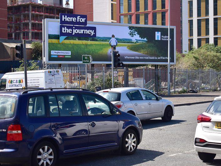 Hughes Insurance 96 Sheet Advertising Billboard